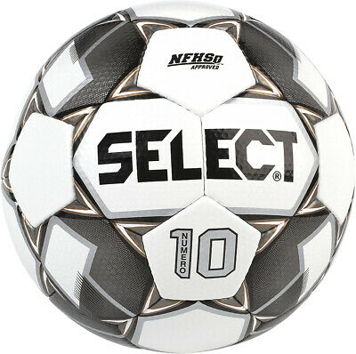 Select Bundle of 10 Numero 10 White/Black/Gold Size 4 Hand Stitched Soccer Ball