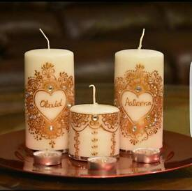 personalised candles.