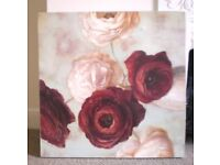 ART PRINT, peony flowers, 27inches square