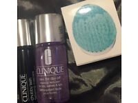 Clinique mascara, make up remover and brush head