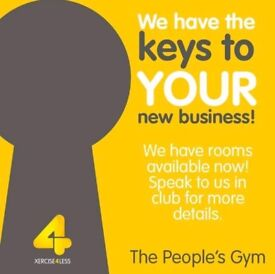 3x Rooms Available for Immediate Hire within Xercise4Less Nottingham