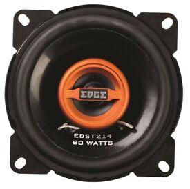 "EDGE 4"" 2-Way Co-axial Car Speakers 80 Watts."