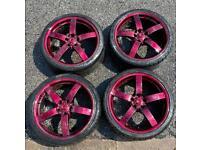 8 alloys plus tyres