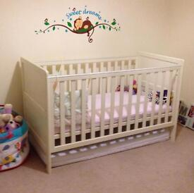 Mamas & Papas Cot-bed and Changing Cabinet