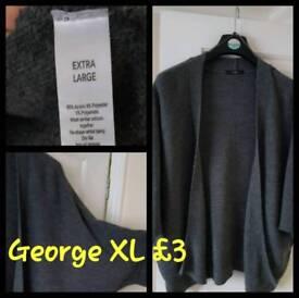 Grey short sleeved cardigan