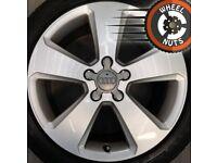 "17"" Genuine Audi A3 alloys Golf Caddy Leon excel cond premium tyres."