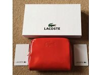 BNWT Lacoste Red Gloss Purse