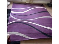 Large Purple HOMEMAKER RUG 160cms x 230cms in excellent condition REDUCED TO CLEAR!