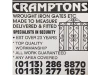 Gates, Railings and fencing Of all types