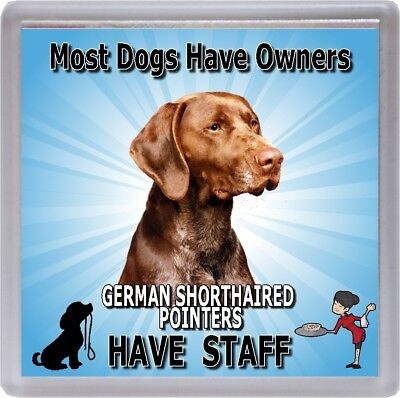 """German Shorthaired Pointer Dog Coaster  """"G.S.P. Have Staff"""" by Starprint"""