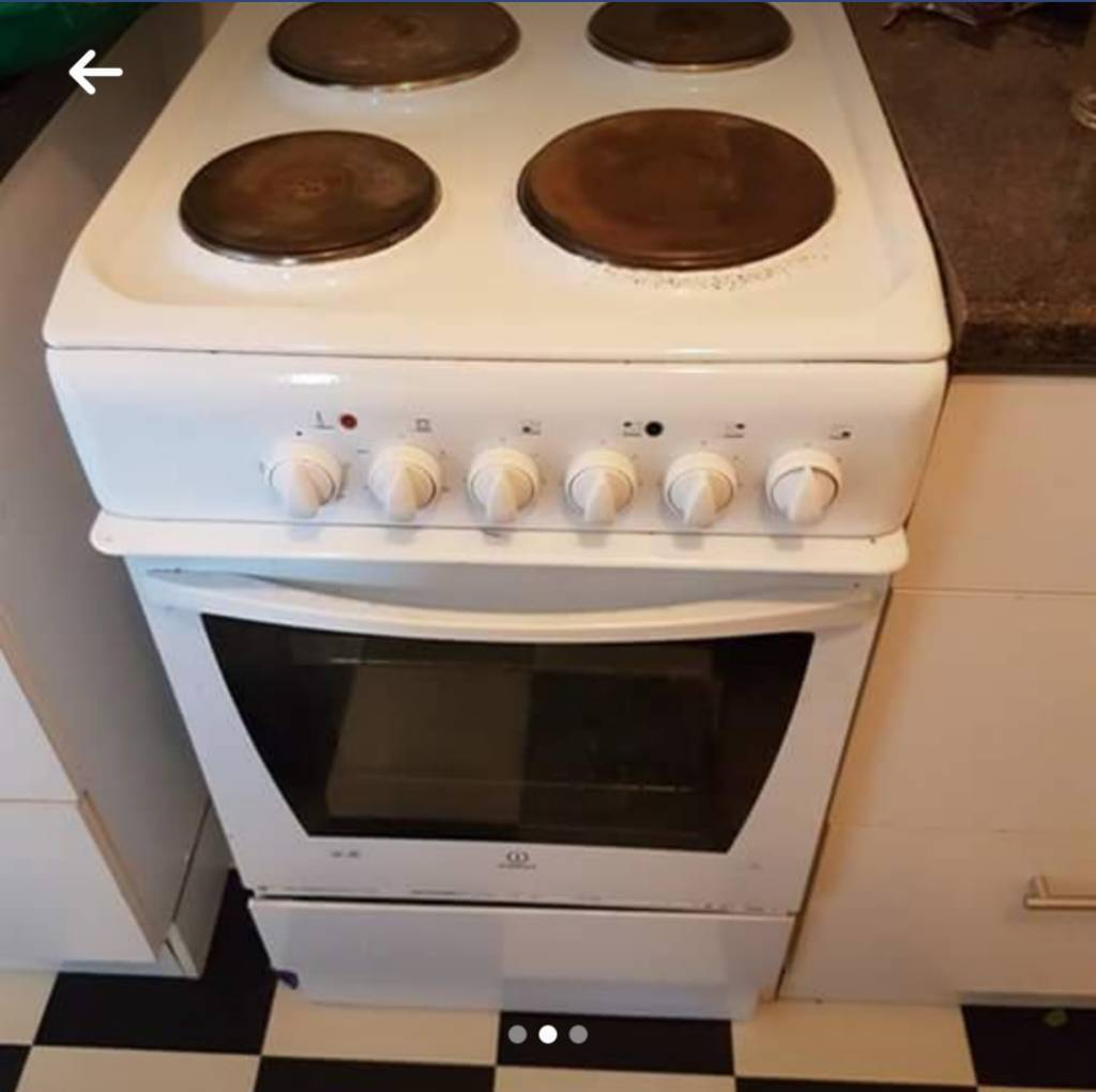 Small white electric cooker