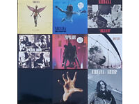 A rather nice selection of 9 Brand New Grunge LP's. Nirvana, Pearl Jam, Soad, Metallica
