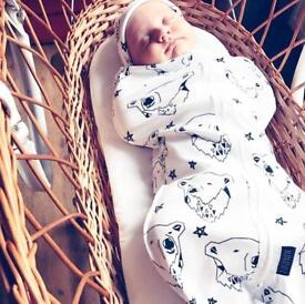 Cocoon baby swaddle   organic cotton   brand new