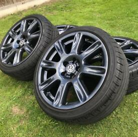 "17"" vw polo dune alloys wheels 5x100 ( Skoda fabia vrs )"