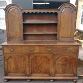 Vintage solid oak welsh dresser, perfect shabby chic project