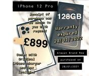 On Sale Now iPhone 12 Pro Gold - 128GB - 9 Months Warranty Left