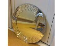 50 cm diameter circular wall mirror