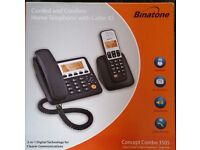 Binatone corded and cordless home telephone with caller ID