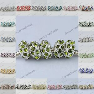 5X-20X-COLORS-AUSTRIAN-CRYSTAL-SILVER-FINDINGS-EUROPEAN-BEADS-FIT-CHARM-BRACELET