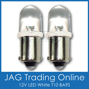 PAIR 12V LED T10 BA9S AUTOMOTIVE PARKER GLOBES HID LOOK WHITE - Car/Auto/Caravan
