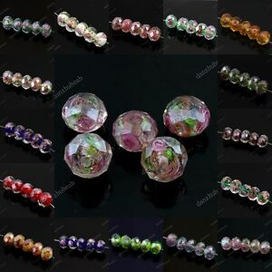 WHOLESALE-LOTS-LAMPWORK-GLASS-FACETED-SPACER-LOOSE-BEADS-JEWELRY-FINDINGS