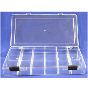 Hawk 18 compartment bead craft small parts fishing storage for Craft storage boxes with compartments