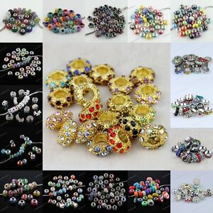 NEW-Lots-Different-Type-Mixed-colors-Findings-European-Beads-Charm-Fit-Bracelets