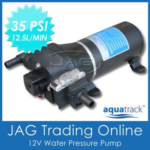12V WATER PRESSURE DIAPHRAGM PUMP 12.5 L/MIN 35 PSI - Boat/Marine/Caravan/RV/4x4
