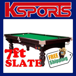 POOL TABLE 7FT SLATE BILLIARD SNOOKER TABLE - BRAND NEW