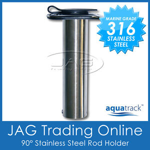 1-x-316-MARINE-GRADE-STAINLESS-STEEL-90-STRAIGHT-BOAT-FISHING-ROD-HOLDER-CAP