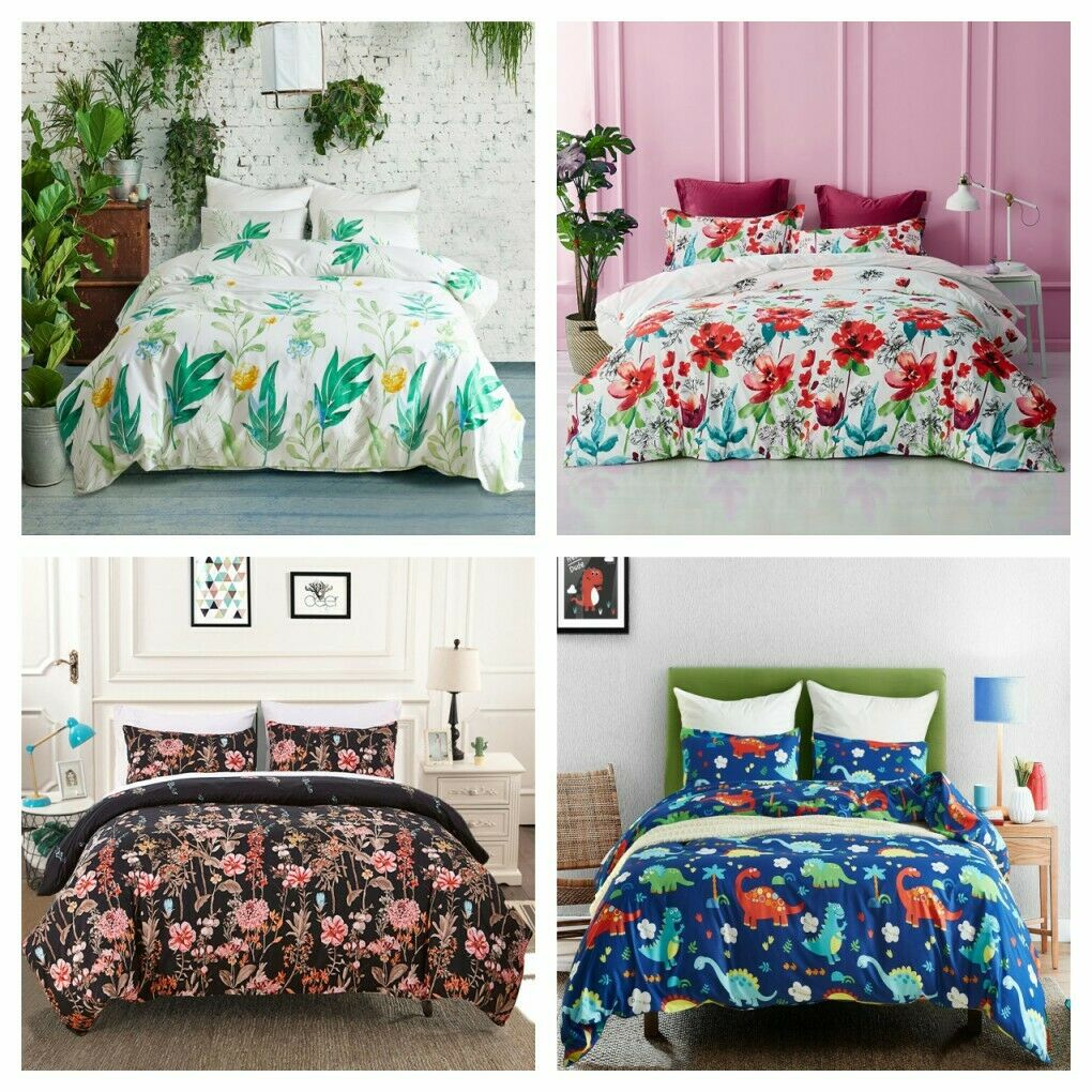 3Pieces Duvet Cover Set For Comforter Queen/King Size Beddin