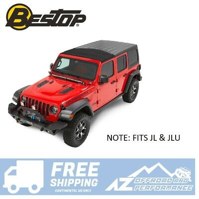 Bestop Sunrider® for Hard Top 18-19 Jeep Wrangler JL JLU 52452-17 Black Twill (Bestop Hard Upper Doors)