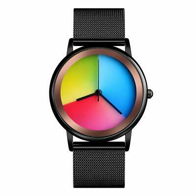 Womens Colorful Waterproof Wrist Watch - CakCity Unisex Stainless Steel Quartz