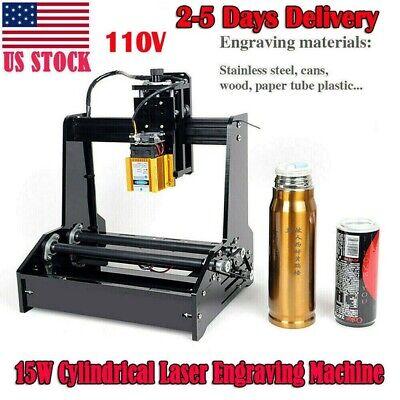 Cylindrical Laser Engraving Machine Metal Steel Iron Stone Engraver Diy Printer