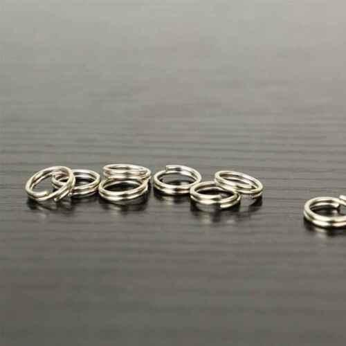 100Pcs Metal Round Split Rings Double Loop Ring Fishing Lures Tackle 6mm