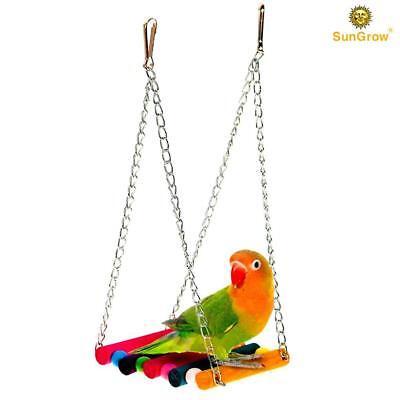 SunGrow Pet Bird Swing: Perfect for Training Parakeet, Finch, Canary, Parrot