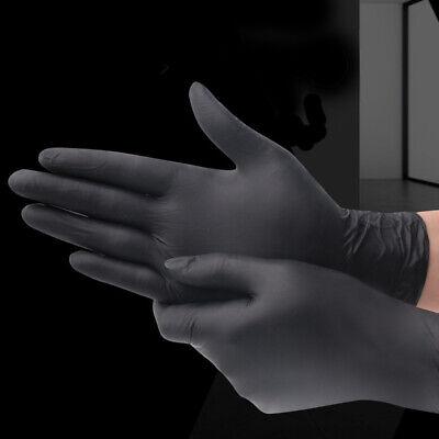 20x Black Pvc Latex-free Gloves Body Art Tattoo Black Gloves