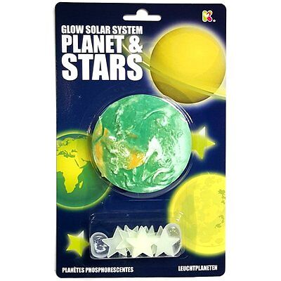 Glow in the Dark Planet and Stars - Fun Childrens Room Ceiling
