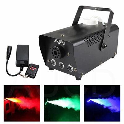 Mini Remote Control RGB LED 400W Smoke Fog Machine for Party Show Stage Fogger](Mini Fog Machine)