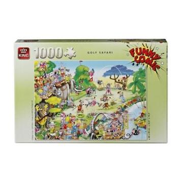 King Golf Safari Funny Comic Puzzel NIEUW!