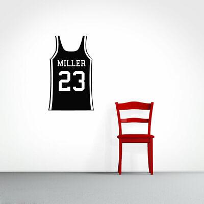 Kids Personalized Basketball (Custom Basketball Jersey - Personalized Sports Man Cave Kids Room Wall)
