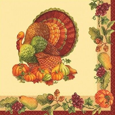 125 Luncheon Napkins Value Pack Fall Turkey (Thanksgiving Luncheon)