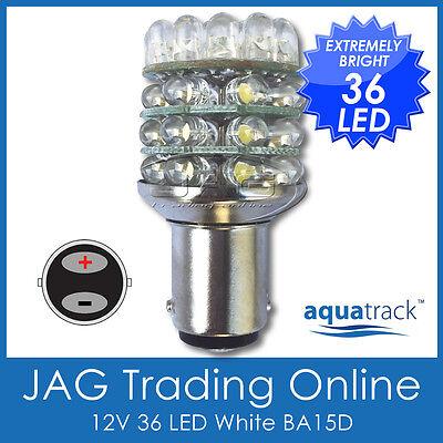 12V 36-LED BA15D 1142 WHITE GLOBE - Boat/Caravan/Auto/Anchor/Stern Light Bulb - Led Anchor Light
