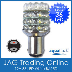 12V-36-LED-BA15D-1142-WHITE-GLOBE-Boat-Caravan-Auto-Anchor-Stern-Light-Bulb