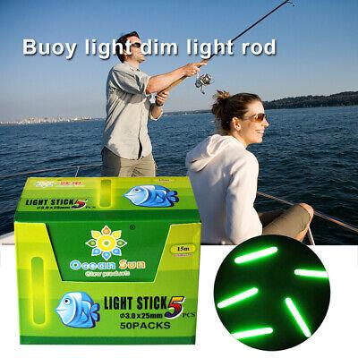 50pcs Glow Sticks Carp Fishing Float Fluorescent Rod Tip Night Fish Light