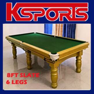 pub size pool table 8ft slate billiard snooker table green g - Slate Pool Table