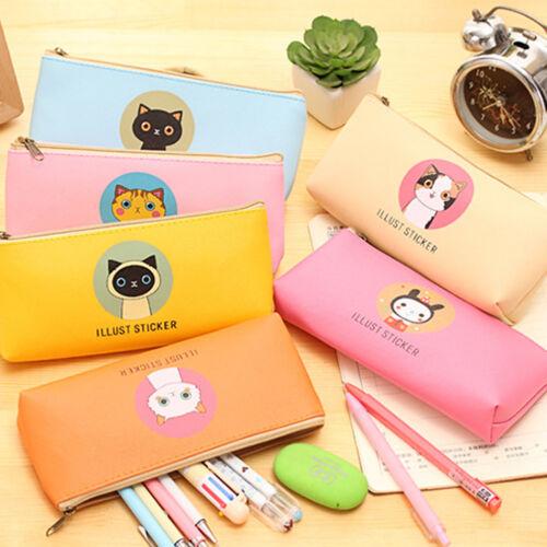 Fashion Cute Animals Pencil Pen Case Cosmetic Makeup Bag Zip