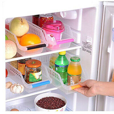 Kitchen Storage Collecting Box Basket Refrigerator Fruit Organiser Rack Plastic