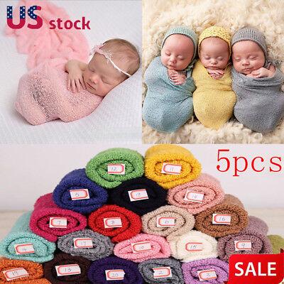 5X 40*150cm Newborn Stretch Wrap Photography Nubble Wraps Props Baby Kids Cozy (Wholesale Photography Props)