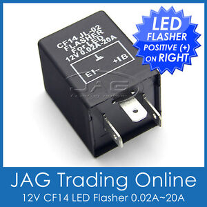 12 VOLT 12V 3 PIN LED LIGHT FLASHER UNIT RELAY INDICATORS SIGNAL 3 PIN 160949